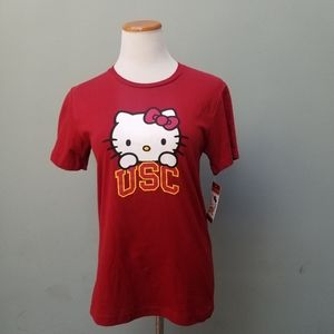 Hello Kitty USC Graphic Short Sleeve Tee Red XL
